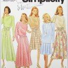 Simplicity 7967 misses skirt split skirt top sizes 18 20 22
