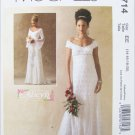 McCall M4714 misses bridal or prom gown sizes 14 16 18 20