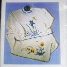 Spring Sweatshirt pansy iris applique patterns or decals