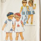 Simplicity 9840 toddler overalls dress hat sailor transfers size 1 vintage