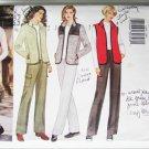 Butterick 6266 misses vest jacket pants sizes 20 22