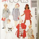 McCall 6246 child robe nightshirt pajamas boy girl size 6 7