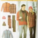 Simplicity 4803 men women jacket vest hat scarf sizes XL XXL XXXL