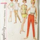 Simplicity 4504 pants top clouse vintage 1960's pattern size teen 14 bust 34