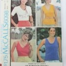McCall 6098 Misses summer T shirts stretch knits size 18 B 40