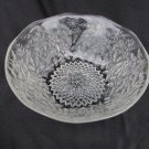 Indiana pineapple floral glass serving bowl 7 1/4 inch clear