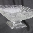 Indiana pineapple floral glass candy nut dish triangular