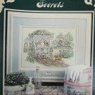 Stoney Creek Garden Secrets cross stitch pattern leaflet 26 girls in garden