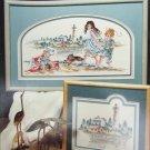 Stoney Creek Day at the Beach cross stitch pattern leaflet 21 lighthouse seashore