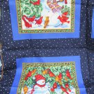 Cranston Print Works snowman pillow fabric quilt panel 2 designs