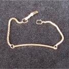 "Avon anklet bracelet gold tone 7"" long narrow band"