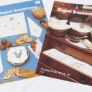 Elegant Breadcovers I and II bread cloths covers cross stitch patterns