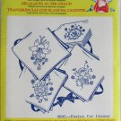 Aunt Martha hot iron transfers 3605 Posies for Linens for embroidery sealed