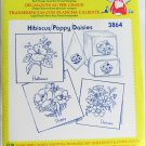 Aunt Martha hot iron transfers 3864 Hibiscus Poppy Daisies for embroidery sealed