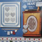 Cross stitch heart and HOME design patterns leaflet