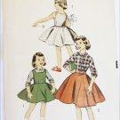 Advance 8022 girls skirt jumper top blouse pattern vintage 1950s size 6 breasst 24