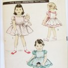 Advance 8302 vintage girls & doll dress & apron circa 1950s pattern size 6 breast 24