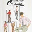 Simplicity 6668 man's pants cuffs optional pleats size waist 36 UNCUT pattern