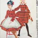 McCall 5537 girls dress & petticoat size 8 breast 26 pattern vintage 1960