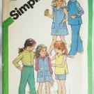 Simplicity 5120 girls dress jumper top shirt pants sizes 5 & 6 UNCUT pattern