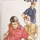 Kwik Sew 326 mans sport shirt sizes 32 34 36 38 UNCUT pattern knits only