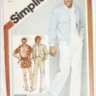 Simplicitty 9924 mans jacket pants shorts size 36 waist UNCUT pattern