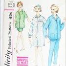 Simplicity 4189 teen girl pajamas sleep coat size 12 bust 32 vintage pattern