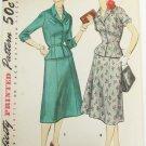 Simplicity 1007 misses 2 piece suit vintage 1954 pattern size 16 1/2 bust 35 UNCUT