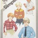 Simplicity 5472 boys shirt sizes 4 6 8 UNCUT pattern