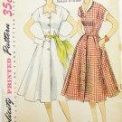Simplicity 3878 misses dress vintage 1952 size 14 1/2 bust 33 UNCUT pattern