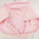 "Basket liner pink white check fabric fits Longaberger 10"" square basket"