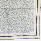 Jacqmar ladies scarf cream blue paisley 26 1/2 square