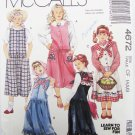 McCall 4672 girls jumper dropped waist appliques sizes 4 5 6 pattern