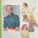 Simplicity 9316 misses blouse with variations size 14 B36 UNCUT pattern 1979