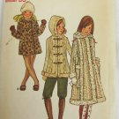Butterick 6365 girls fake fur coat or jacket size 12 bust 30 UNCUT pattern