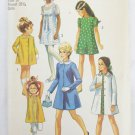 Simplicity 9296 girls dress coat size 10 breast 28 1/2 UNCUT pattern 1971 vintage