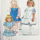 Butterick 4830 toddlers dress & pinafore sizes 1 2 3 4 UNCUT pattern