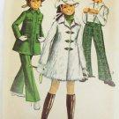 Simplicity 8470 girls mini coat bell bottom pants hat size 8 breast 27