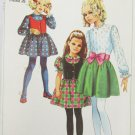Simplicity 7836 girls dress & vest size 6 breast 25 UNCUT pattern