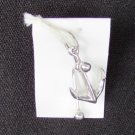 "Admiralty anchor bracelet charm 7/8"" long silver"