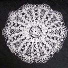 "Doily hand crocheted light ecru 8 1/4"" circle fine thread very clean"