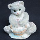 Calico Kitten Cleanliness cat small Enesco 1994 Priscilla Hillman