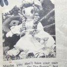 Laura Ozark Little House on Prairie Doll pattern one uncut