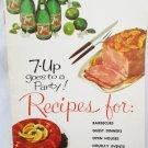 7 Up Recipe cookbook booklet vintage 1961