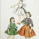 Advance 8022 girls skirt dress blouse size 12 breast 30 vintage 1950s pattern
