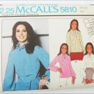 McCall 5810 misses blouse pattern size 18 bust 40 UNCUT