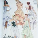 McCall 4827 misses prom gown fancy dress strapless sizes 8 10 12 UNCUT