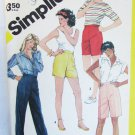 Simplicity 6253 misses shorts pants stretch knits only sizes 20 1/2 to 24 1/2 UNCUT