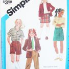 Simplicity 6553 girls size 7 jacket pants skirt UNCUT pattern