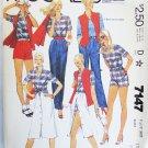 McCall 7147 misses shirt vest skirt pants size 13 to 14 UNCUT pattern